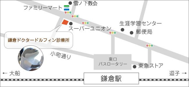 鎌倉ドクタードルフィン診療所 所在地 アクセス(地図)